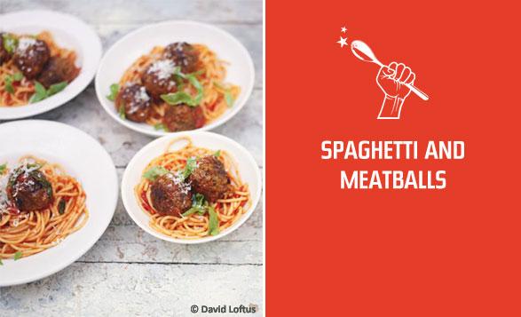 Спагетти и тефтели