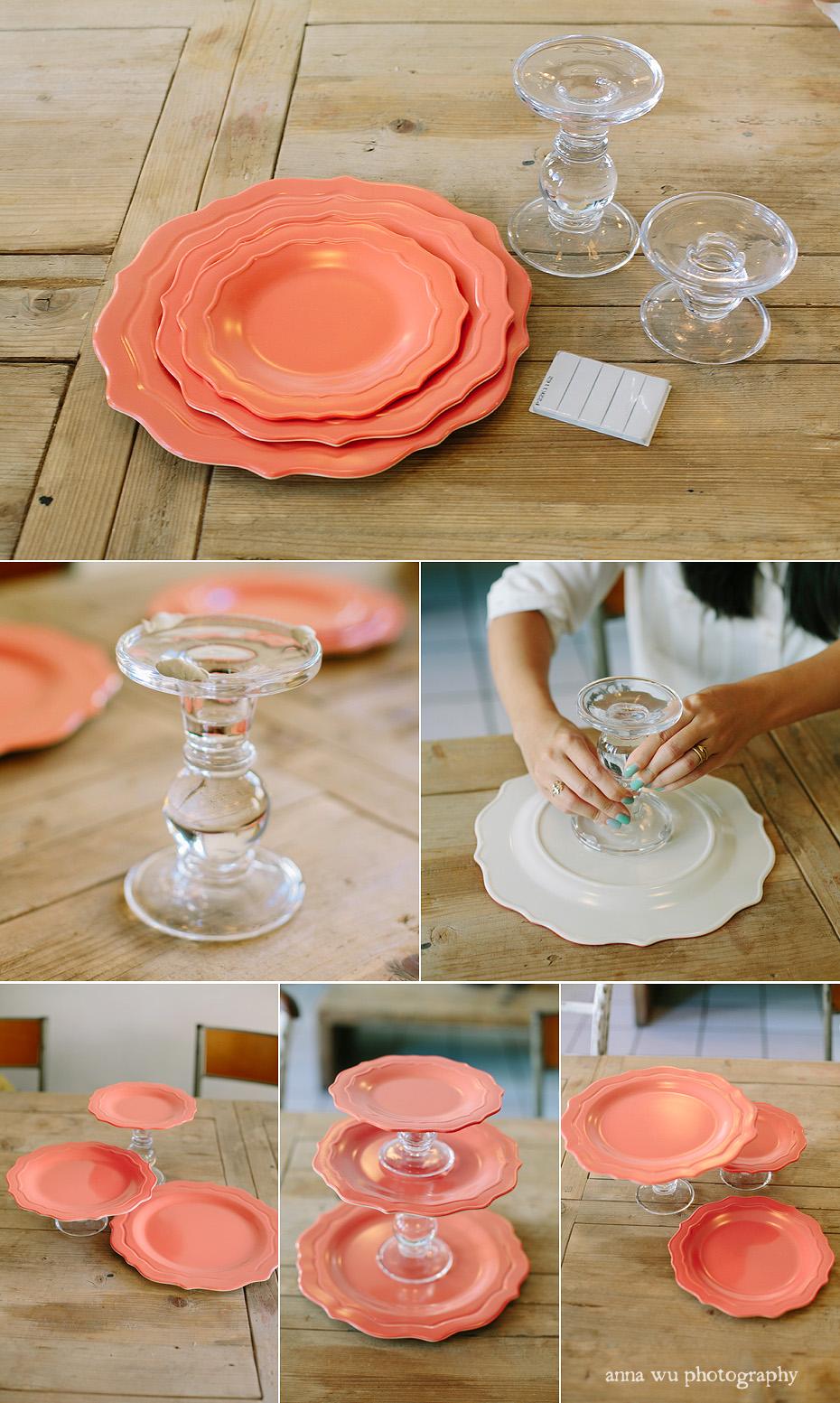 Тортовница из тарелок