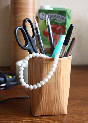 простая карандашница