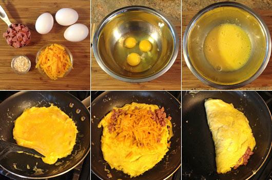 Как приготовить омлет с начинкой