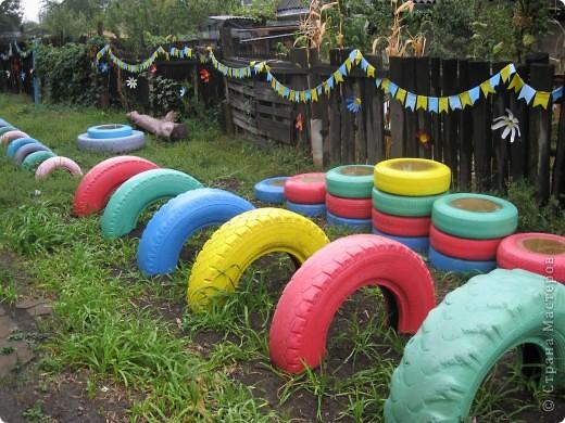 Антивандальная детская площадка из старых шин Жизнь прекрасна! Онлайн-журнал о позитивной жизни